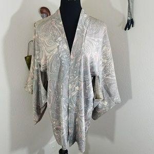 💐Gorgeous Kimono Cardigan pink/grey sz L💐